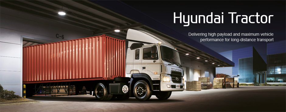 Hyundai Tractor. Delivering high payload and maximum vehicle performance for long-distance transport